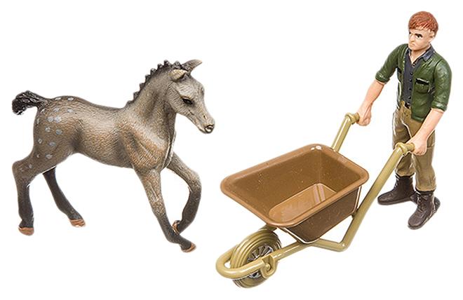 Купить Игровой набор Yako Toys Фигурка С Животным И Тачкой Серия Мир Вокруг Нас Арт.M7593-15.,
