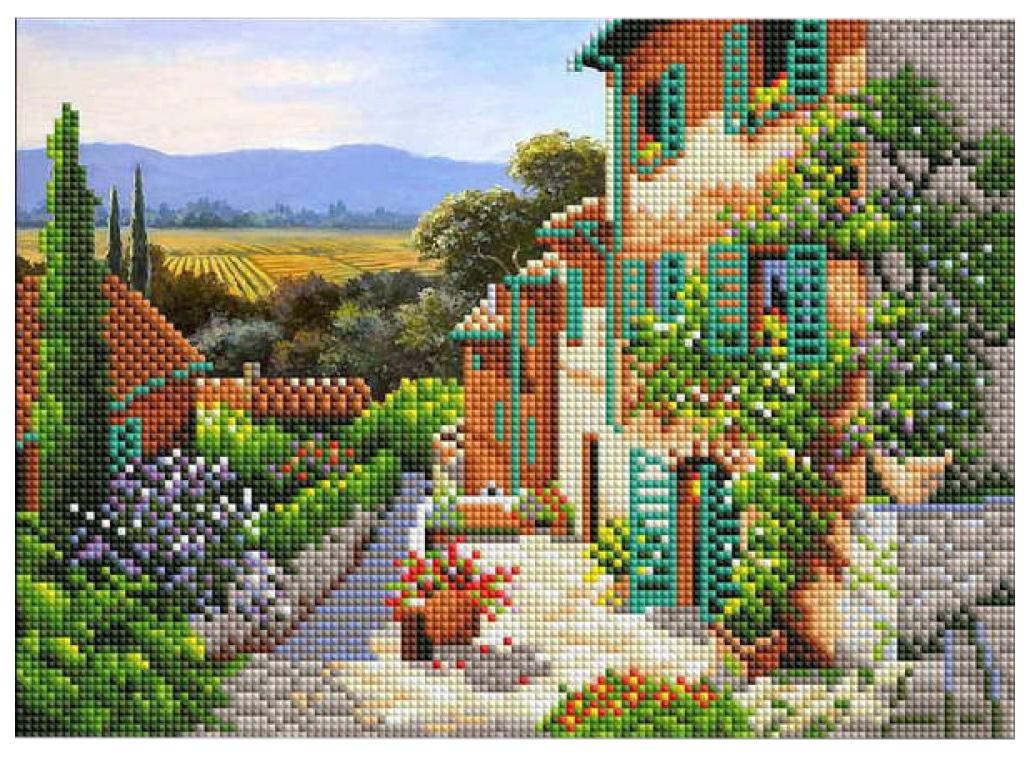 Купить РЫЖИЙ КОТ Алмазная мозаика Солнечная улица, 30х40 см с подрамником с частичным заполнением, Рыжий кот, Мозаики