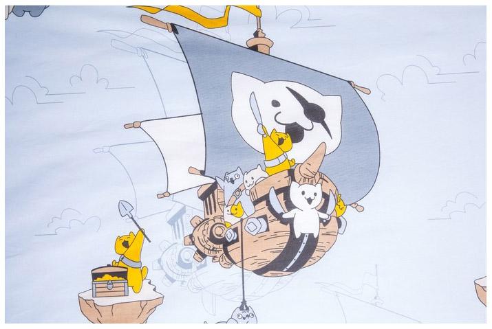 Купить Набор постельного белья Sima-Land Коты-Пираты, поплин, Комплекты детского постельного белья