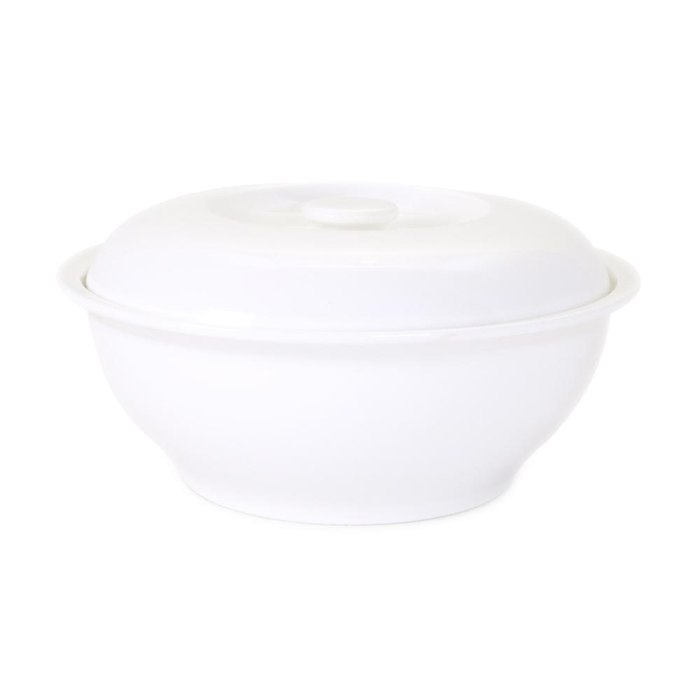 Чаша с крышкой (супница) АККУ 1750 мл костяной