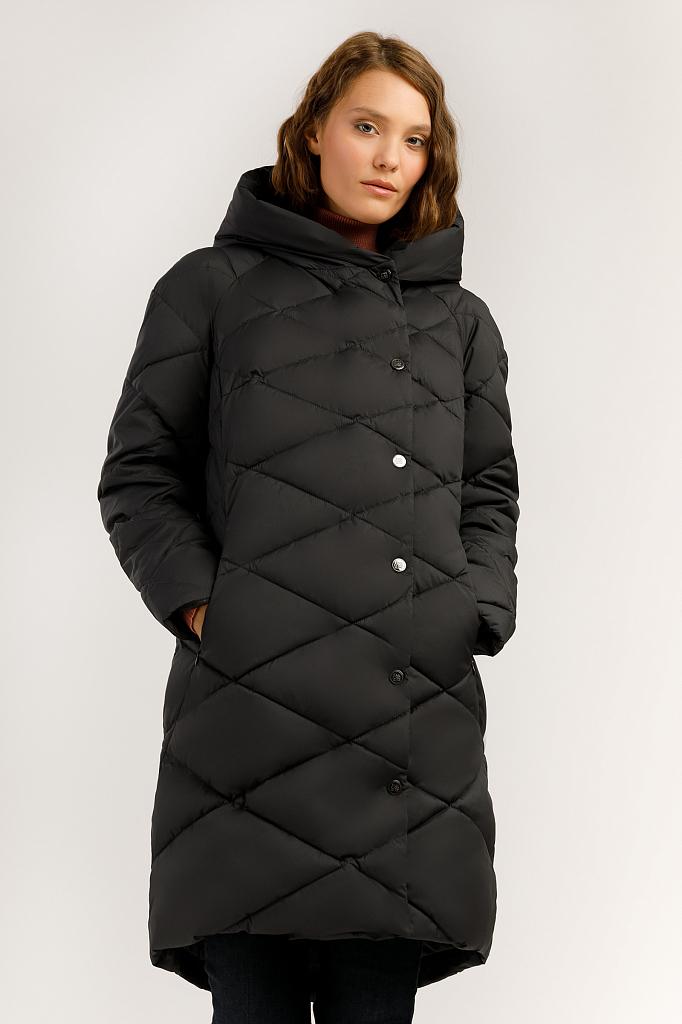 Пальто женское Finn Flare A19-11024 черное XS фото