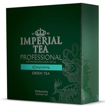 Чай зеленый среднелистовой юньнань Imperial tea professional пакетированный