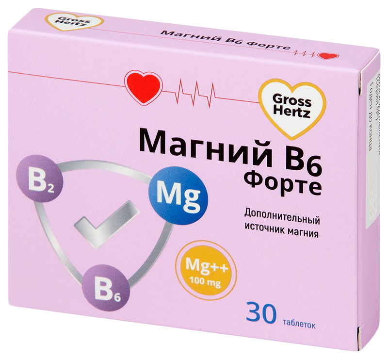 Магний В6 Форте Gross Hertz таблетки 30 шт.