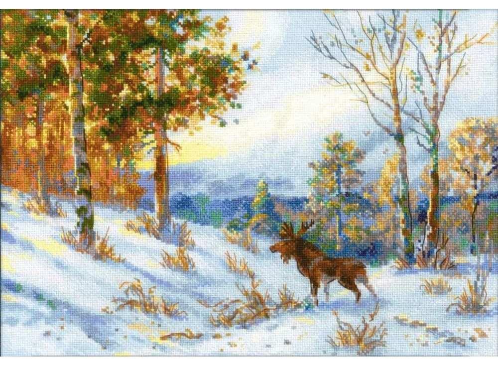 """Набор для вышивания РИОЛИС """"Лось в зимнем лесу"""""""