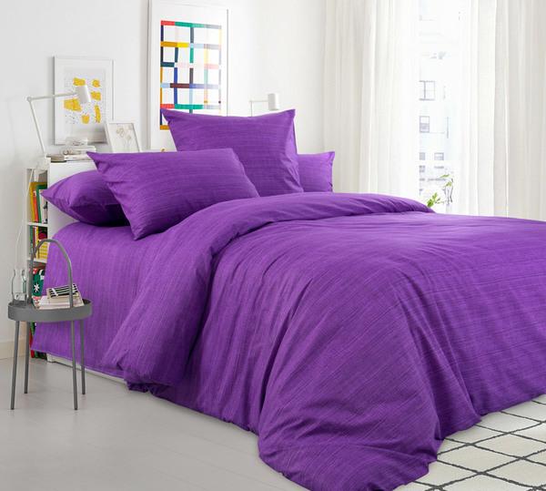 Наволочки из Перкали фиолетовые (100% Хлопок) коллекция