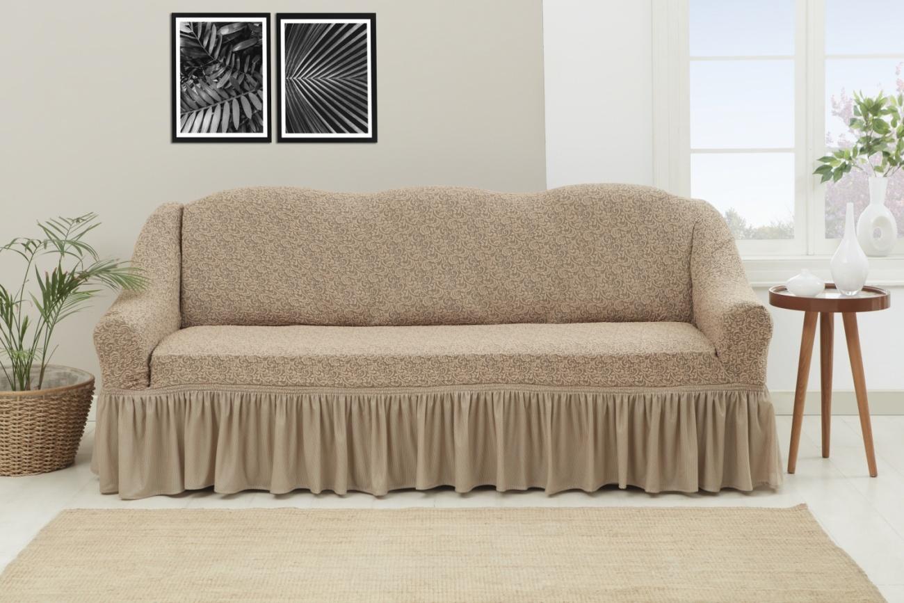 Чехол на трехместный диван с оборкой Venera \