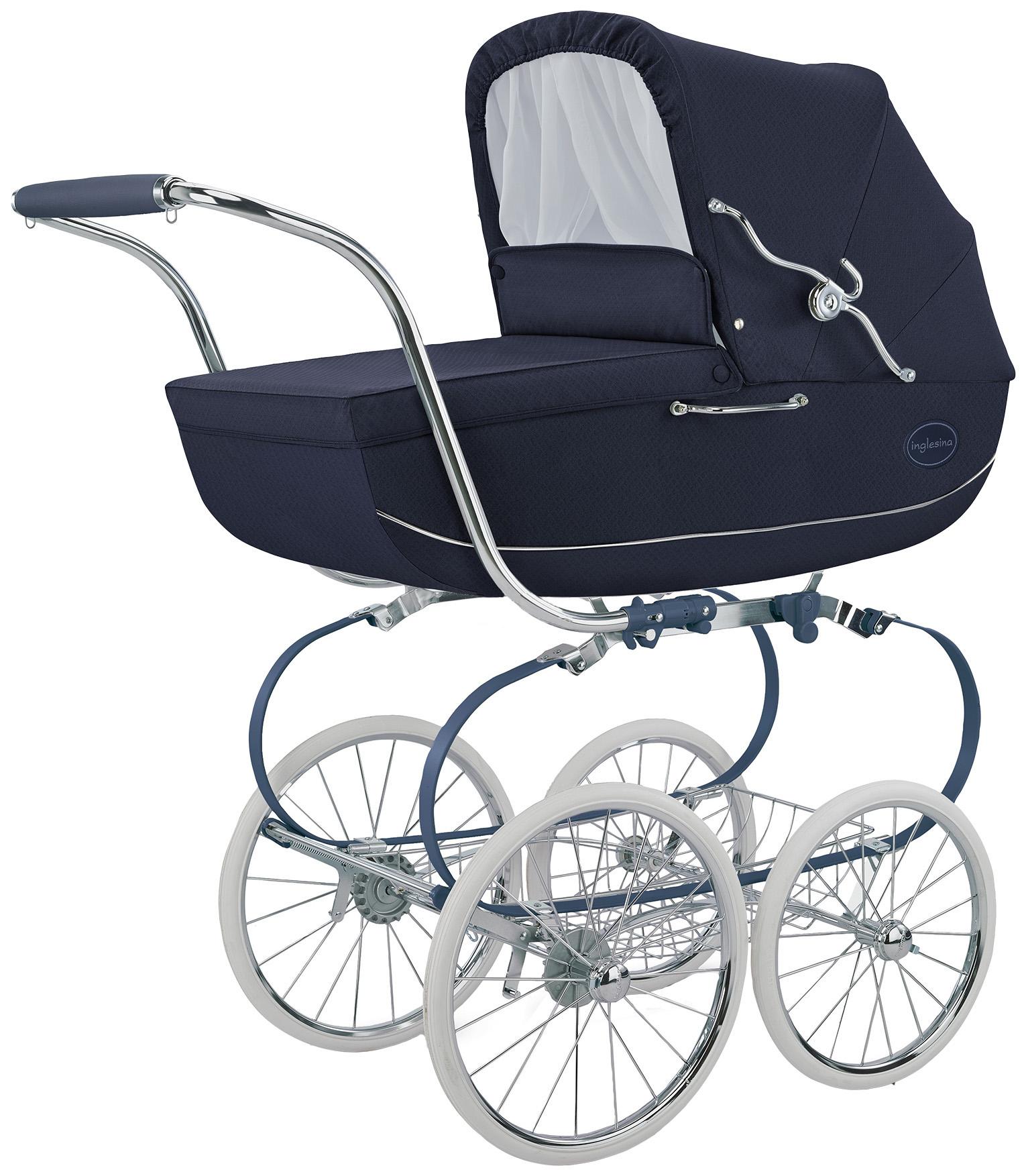 Купить Коляска для новорожденного Inglesina Classica на шасси Balestrino Chrome Blue, Коляски для новорожденных