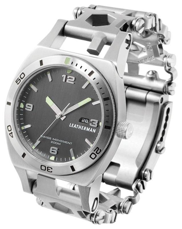 Мультитул Leatherman Tread Tempo Stainless 832421 120 мм серебристый, 30 функций фото