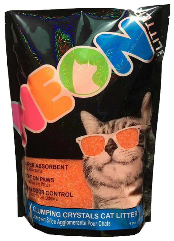 Комкующийся наполнитель для кошек Neon Litter силикагелевый,