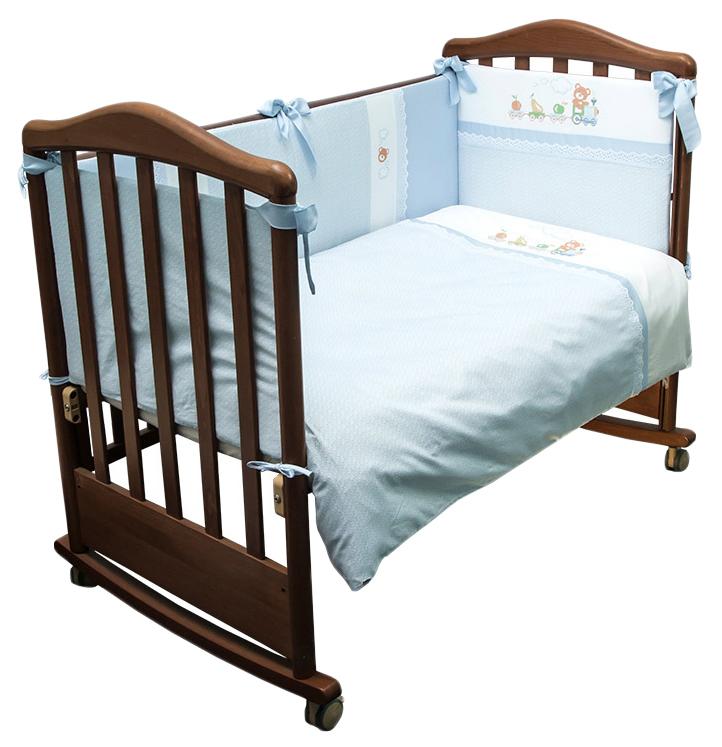 Купить 672/1 Комплект 'Паровозик' голубой, Комплект Паровозик голубой Сонный Гномик, Сонный гномик,