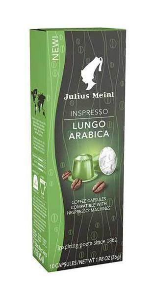 Капсулы Julius Meinl лунго арабика для кофемашин Nespresso 10 капсул для кофемашины