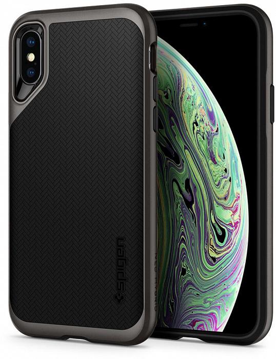 Чехол Spigen Neo Hybrid (065CS24838) для iPhone Xs Max (Gunmetal)