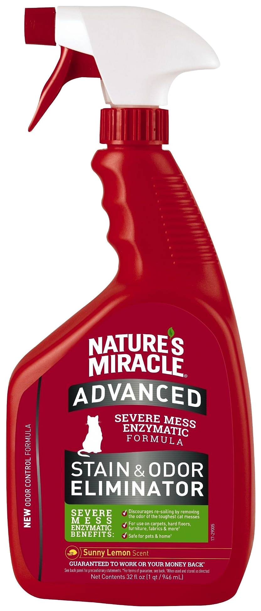 Nature's Miracle / Нейтрализатор пятен и запаха Nature's Miracle ADV Cat Stain&Odor Eliminator Lemon  946 мл