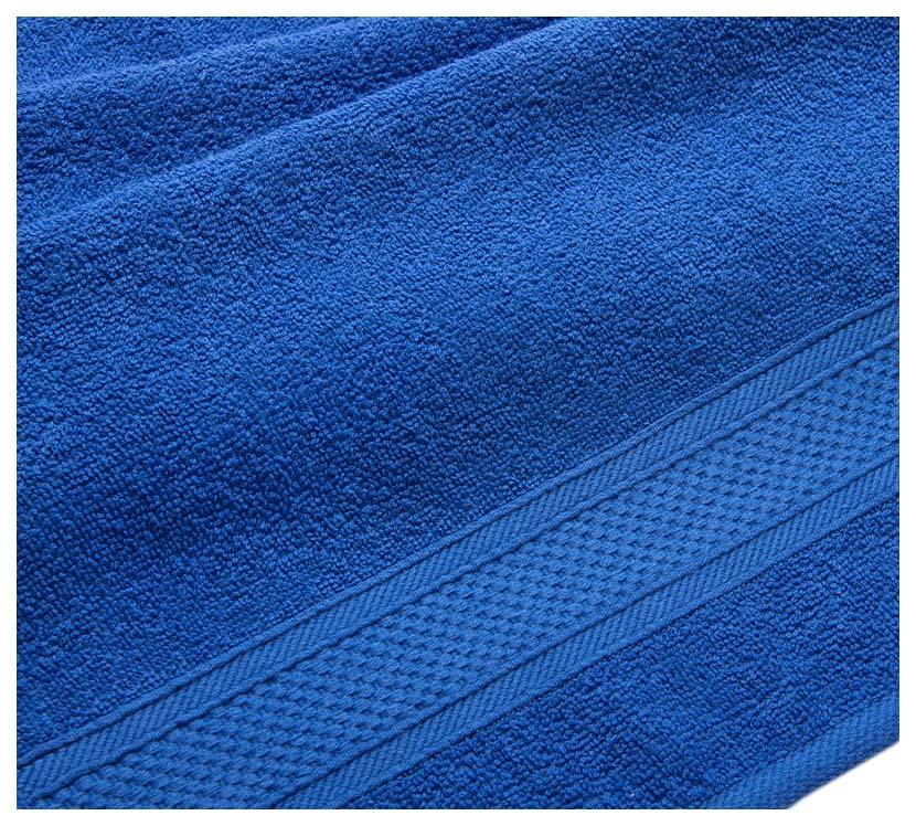 Полотенце махровое с бордюром (синее) 50х90