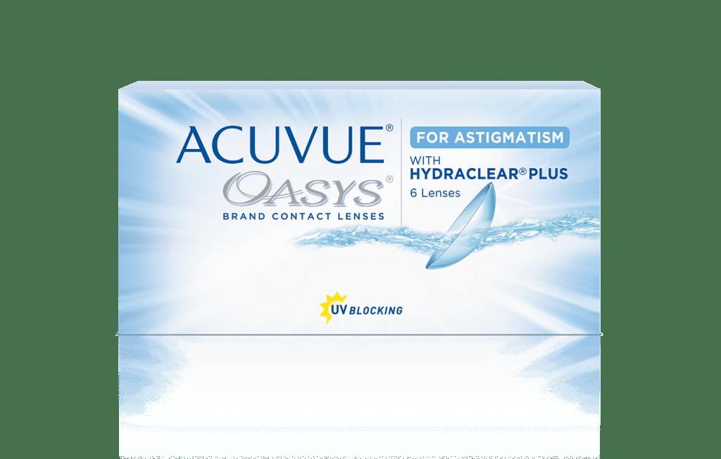 Контактные линзы Acuvue Oasys for Astigmatism with Hydraclear Plus 6 линз 0,00/-1,75/90