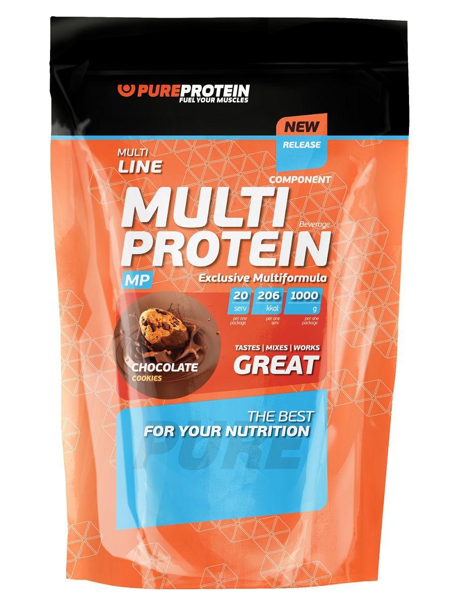 Протеин PureProtein Multicomponent Protein 1050 г шоколадное печенье фото