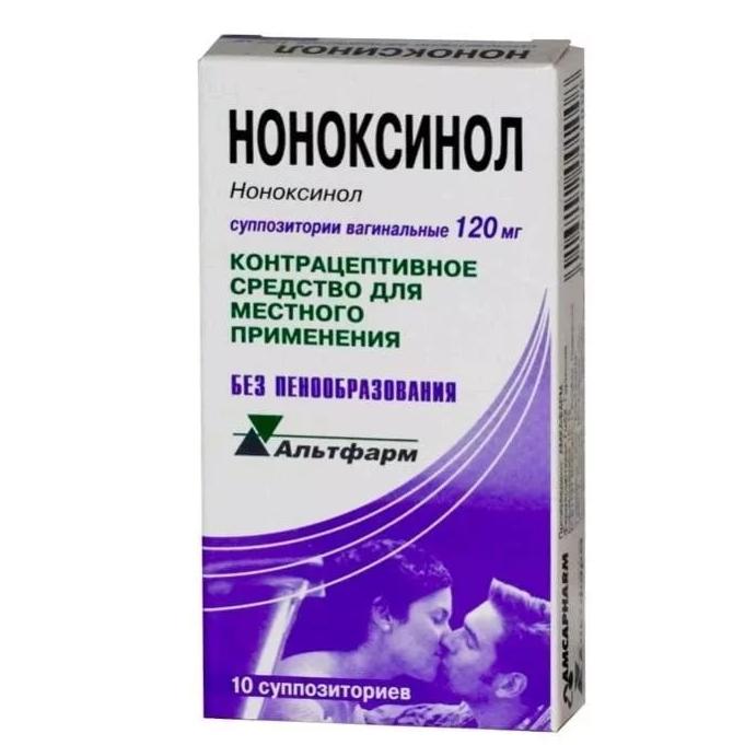 Ноноксинол суппозитории вагинальные 120 мг 10 шт.