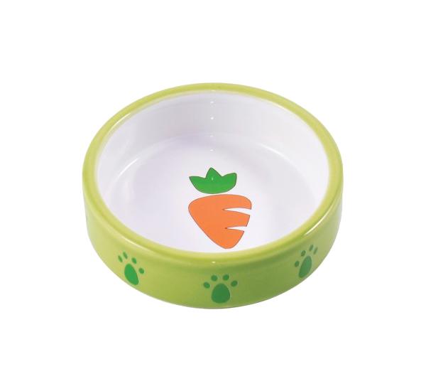 Одинарная миска для грызунов КерамикАрт, керамика, зеленый,