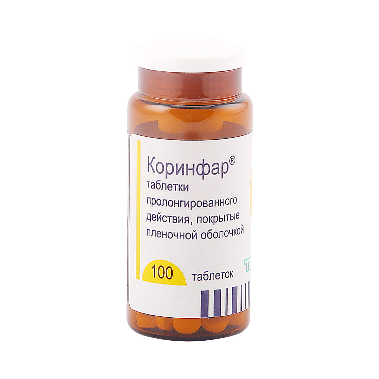 Коринфар таблетки пролонг 10 мг 100 шт.