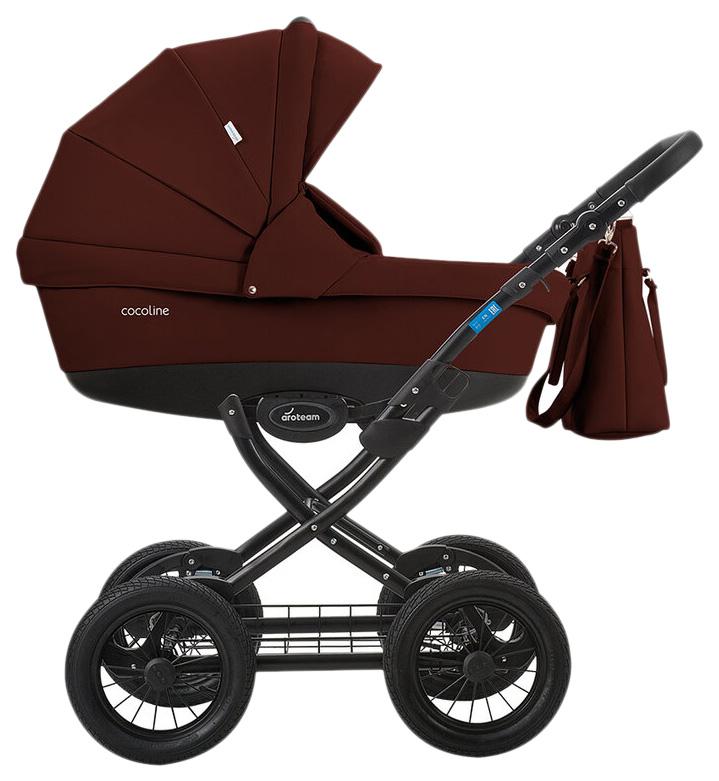 Купить Коляска 2 в 1 AroTeam Cocoline 18 Prima Бордовая кожа УТ0010337, Детские коляски 2 в 1