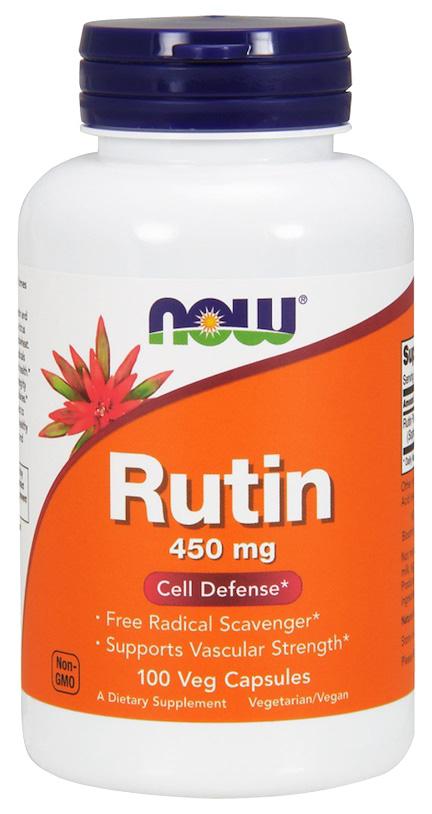 Купить Для сердца и сосудов Now Rutin 450 мг 100 капсул