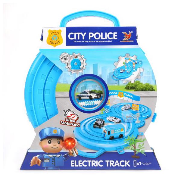 Купить Автотрек Наша игрушка электрифицированный Полиция HY347-2, Детские автотреки
