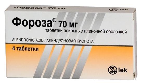 Купить Фороза таблетки 70 мг 4 шт., Lek d. d.