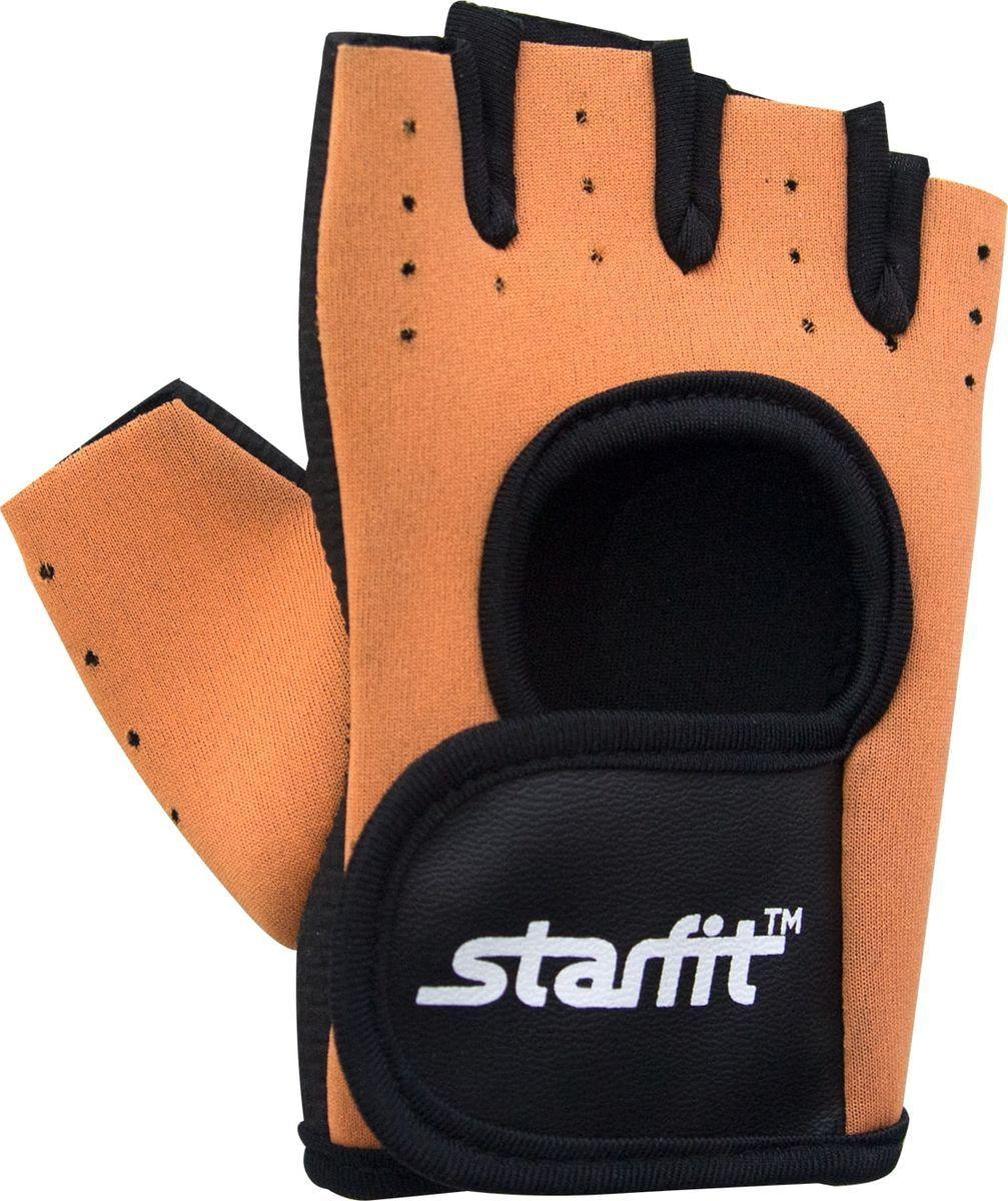Перчатки для фитнеса StarFit SU 107, черные/оранжевые,