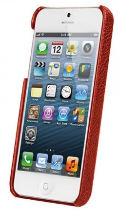 Чехол Vetti Craft Leather Snap Cover для iPhone 5/5S/SE Red