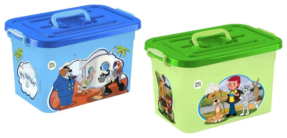 Ящик для хранения игрушек Полимербыт Союзмультфильм 81145 в ассортименте