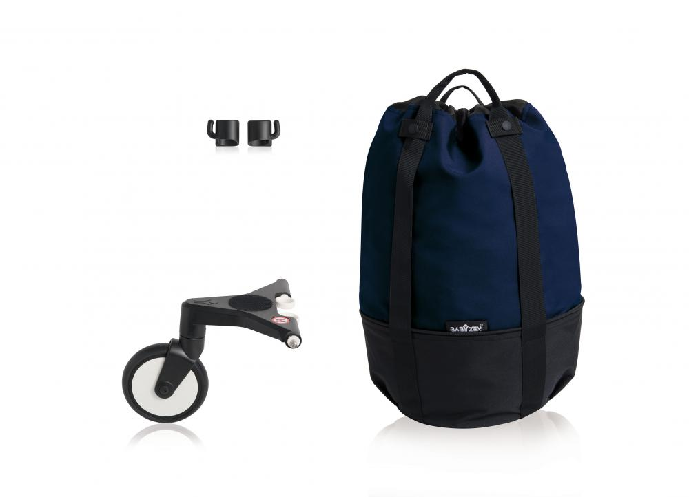 Сумка для коляски Babyzen yoyo+ с колесом-платформой navy blue