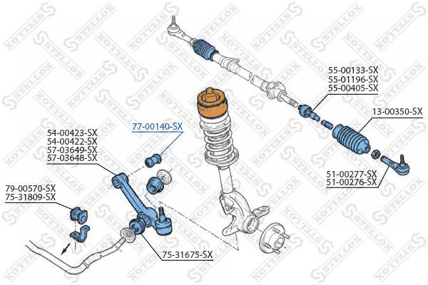 Рычаг независимой подвески колеса STELLOX 77-00140-SX