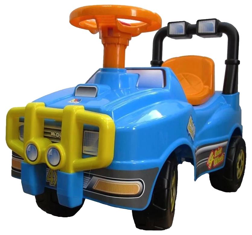 Машина-каталка Полесье Джип с ручкой Голубой