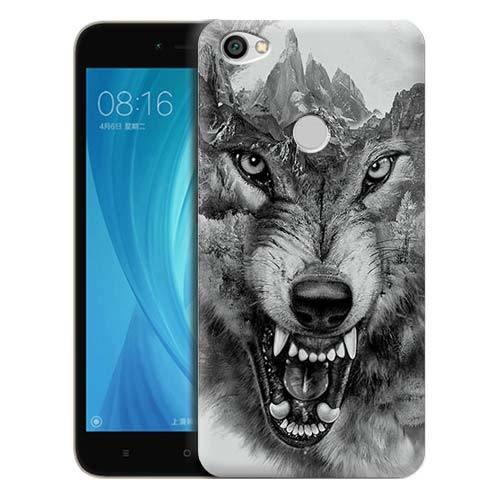 Чехол Gosso Cases для Xiaomi Redmi Note 5A Prime «Волк в горах»