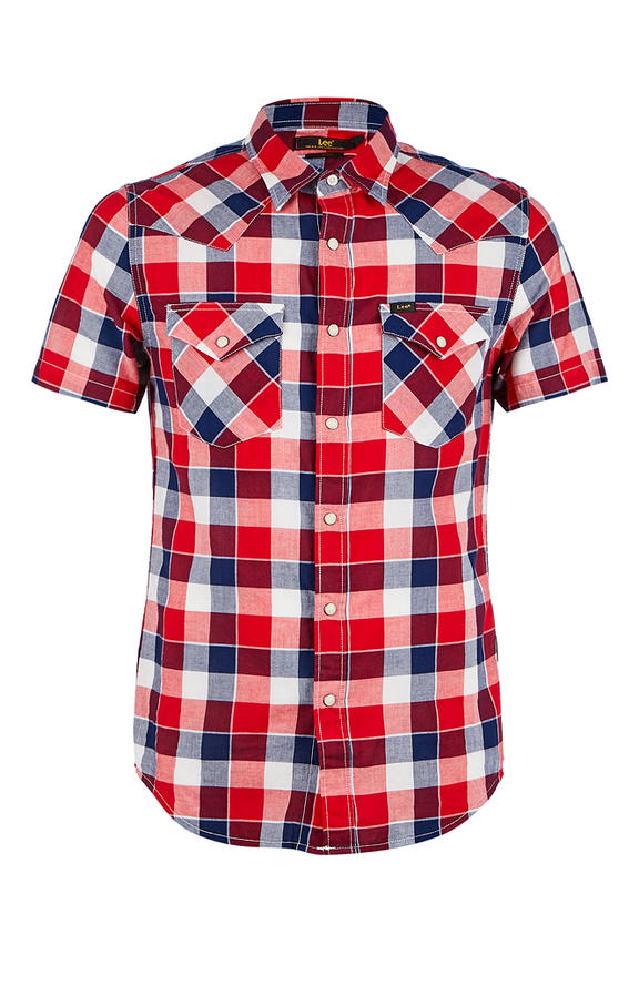 Рубашка Мужская Lee красная 46