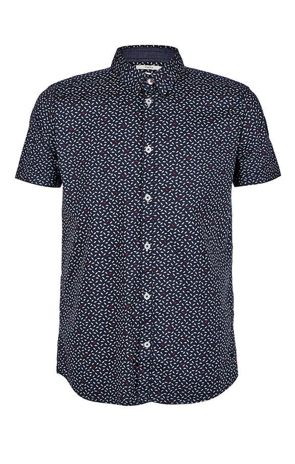 Рубашка Мужская TOM TAILOR синяя 46 фото