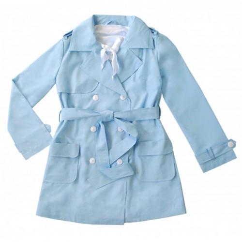 Купить Плащ Bon&Bon для девочки голубой 248 р.152, Детские плащи и дождевики