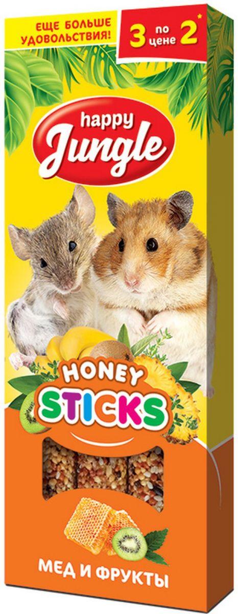 Лакомство HAPPY JUNGLE палочки для мелких грызунов