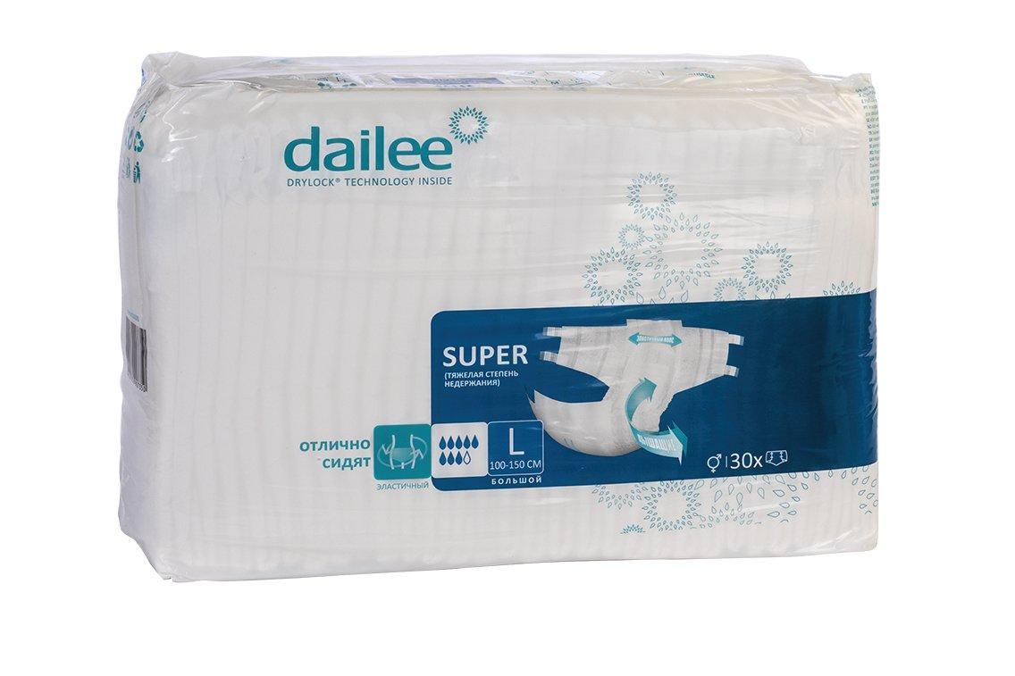 Купить Подгузники для взрослых DAILEE размер L 30 шт.