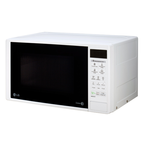 Микроволновая печь соло LG MS2042DY black/white