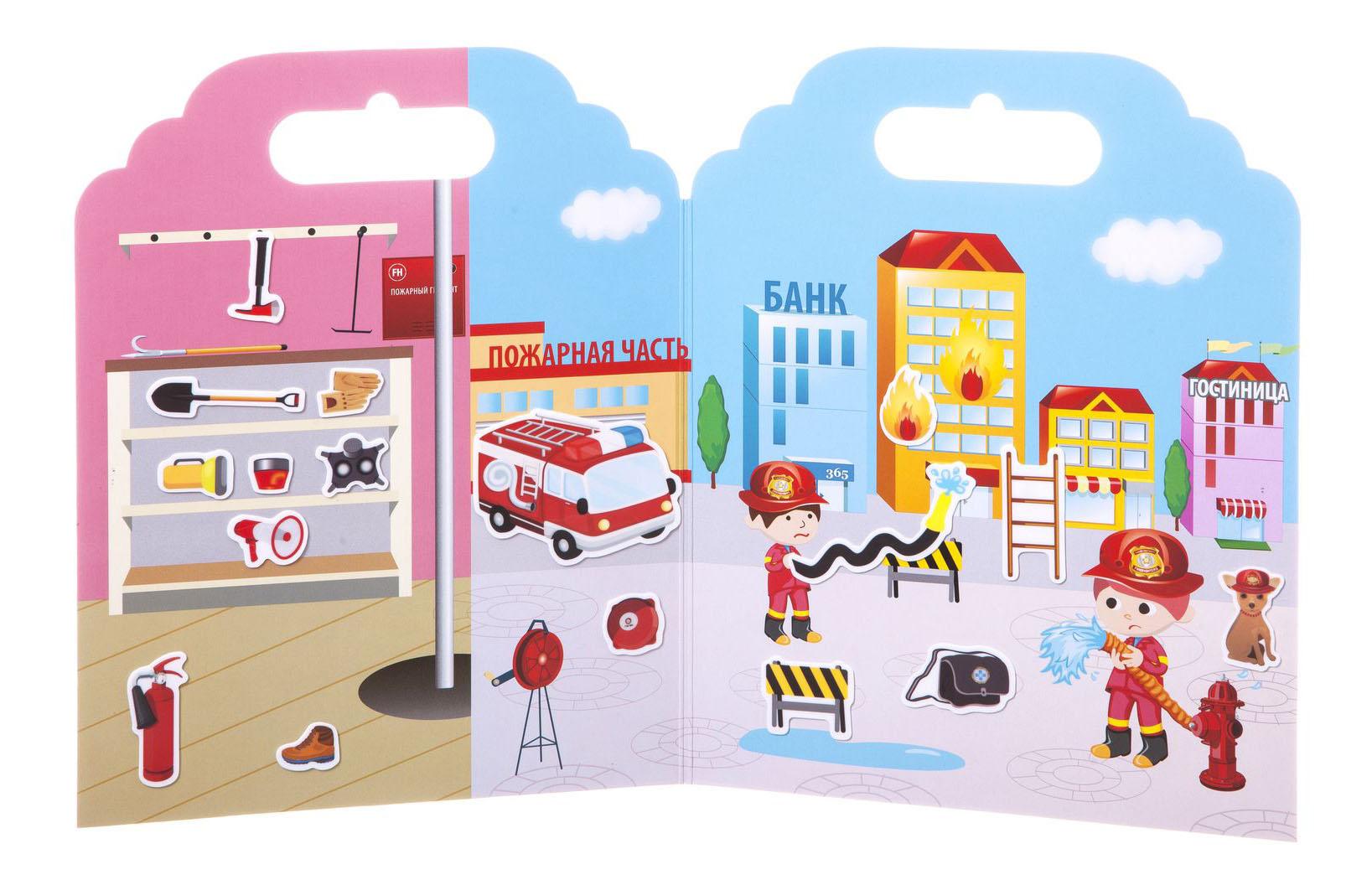Купить Набор наклеек Нано-стикер Пожарная команда, Bondibon, 19х24 см., арт. TP-S26, Набор наклеек нано-стикер пожарная команда, Bondibon 19х24 см, Аксессуары для детской комнаты