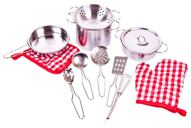Набор посуды металлической для кухни 2 вида Abtoys Помогаю маме PT-00482