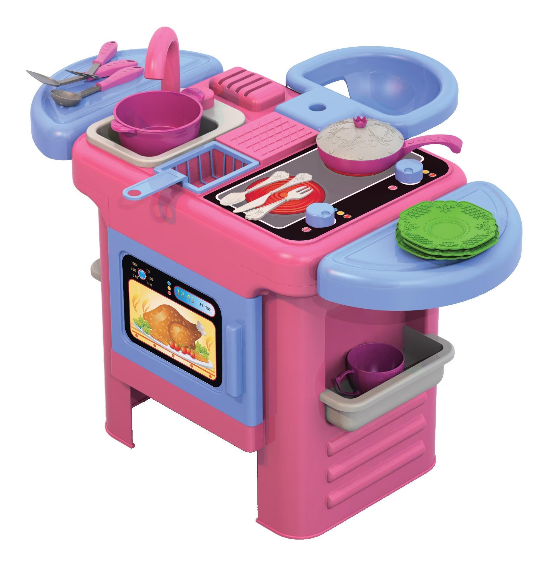 Кухонный набор Волшебная хозяюшка: №3 кухня 44 см набор посудки сиденье для куклы фото