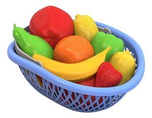 Набор НОРДПЛАСТ фрукты 14 предметов в лукошке