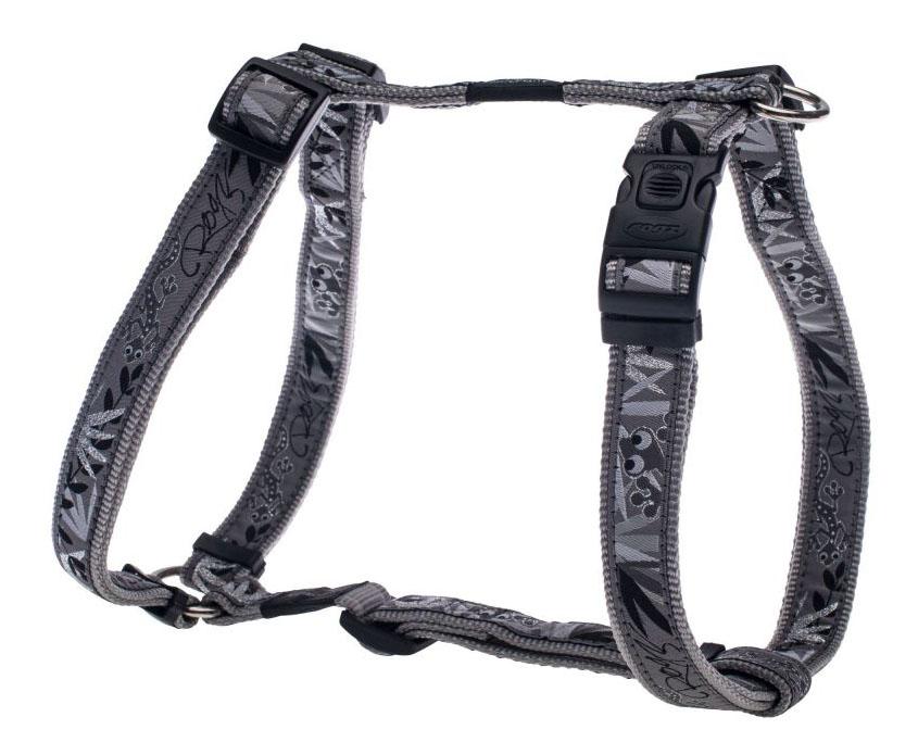 Шлейка для собак Rogz Fancy Dress XL-25мм (Серый SJ02BS)
