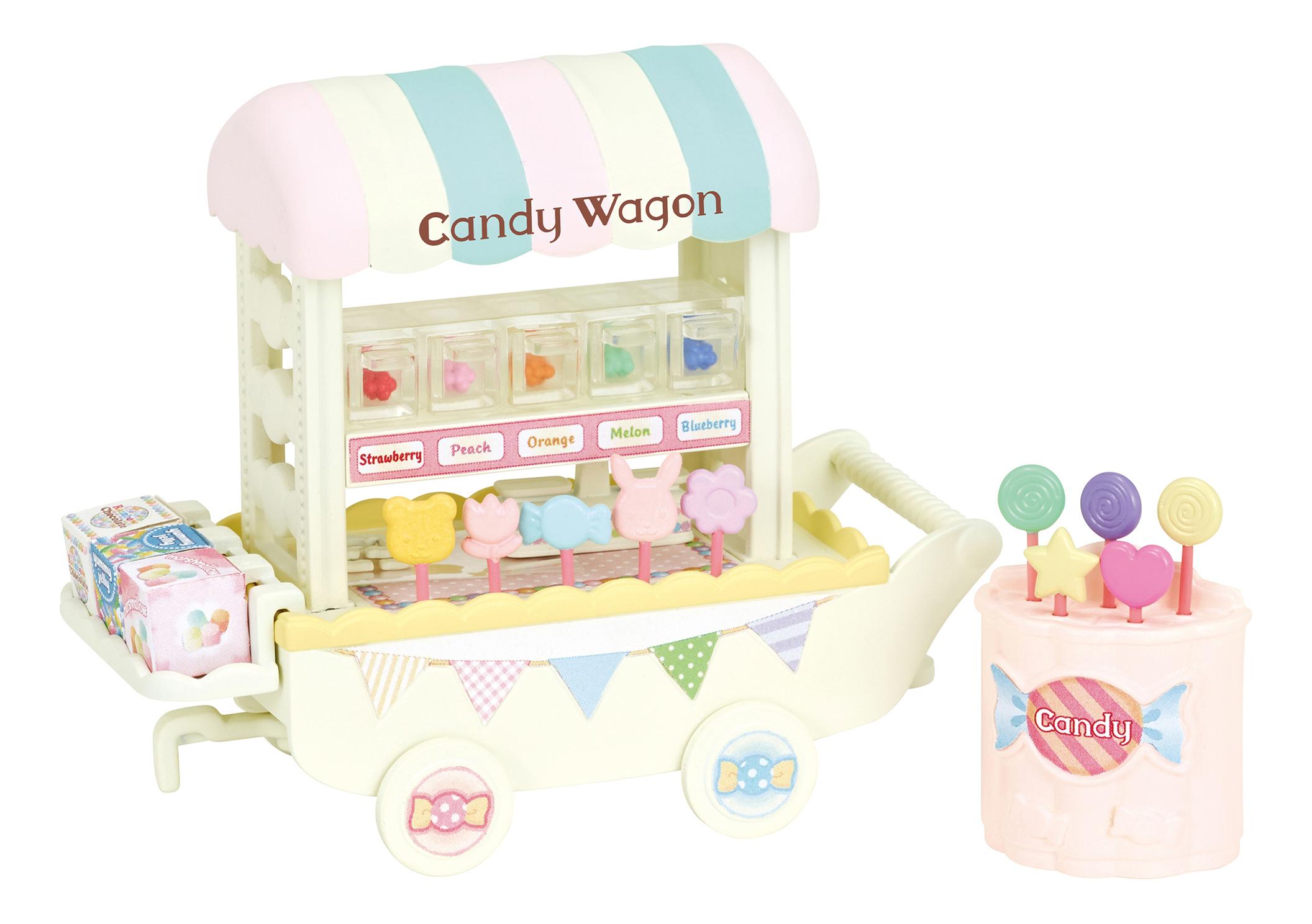 Купить Тележка со сладостями, Игровой набор EPOCH Sylvanian Families Тележка со сладостями,