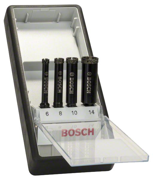 Набор алмазных сверл Bosch 6/8/10/14мм , ROBUST