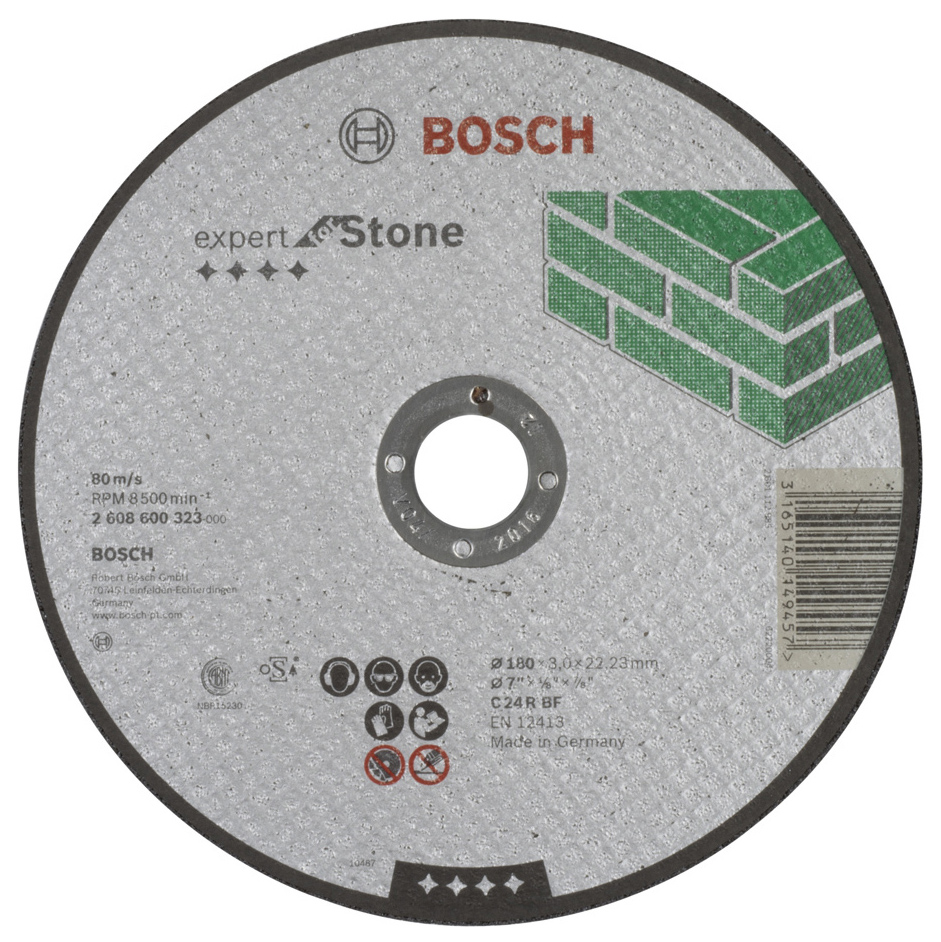 Отрезной круг Bosch КАМЕНЬ 180Х3 мм 2608600323