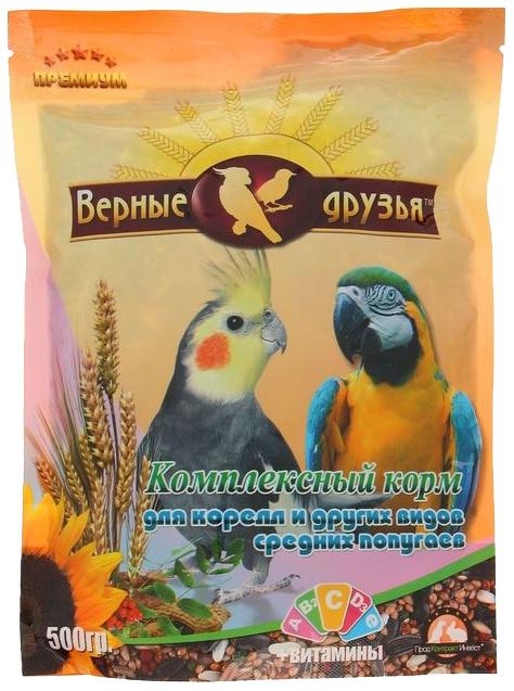 Корм для средних попугаев Верные друзья, комплексный,