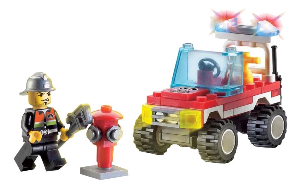 Конструктор пластиковый Brick Пожарная машина с фигуркой фото